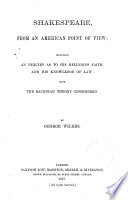 Shakespeare  from an American Point of View