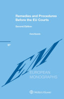 Pdf Remedies and Procedures Before the EU Courts Telecharger