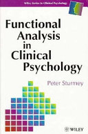 Functional Analysis In Clinical Psychology Book PDF