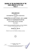 Hearings on the Reauthorization of the Older Americans Act of 1965
