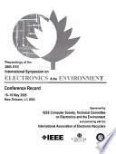 Proceedings of the ... IEEE International Symposium on Electronics and the Environment