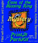 Girl's Case of the Missing Ring Mystery Party Kit