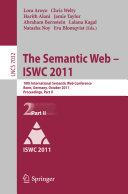 The Semantic Web    ISWC 2011