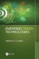Emerging Green Technologies [Pdf/ePub] eBook