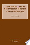 An Introduction to Meshfree Methods and Their Programming