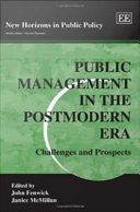 Public Management in the Postmodern Era