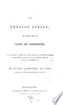 The Preston Strike  an Enquiry Into Its Causes and Consequences