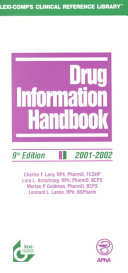 Drug Information Handbook 2001 2001 Book