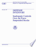 Defense inventory inadequate controls over Air Force suspended stocks : report to congressional requesters