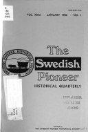 The Swedish Pioneer Historical Quarterly