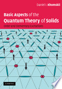Basic Aspects of the Quantum Theory of Solids Book PDF