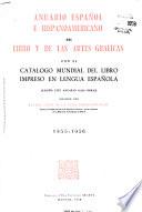Anuario español e hispano-americano del libro y de las artes gráficas