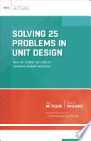 Solving 25 Problems in Unit Design