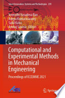 Computational and Experimental Methods in Mechanical Engineering Book