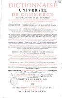 Dictionnaire universel de commerce
