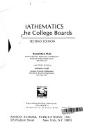 Mathematics for the College Boards
