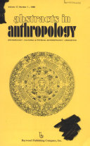 Abstracts in Anthropology Book