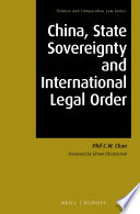 China  State Sovereignty and International Legal Order