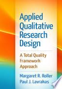 Applied Qualitative Research Design Book