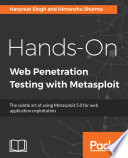 Hands On Web Penetration Testing with Metasploit Book