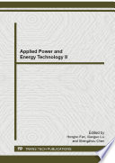 Applied Power and Energy Technology II