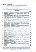 Indian Journal of Applied Chemistry
