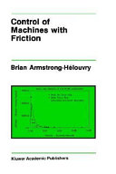 Pdf Control of Machines with Friction
