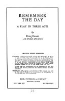 Remember the Day Book PDF