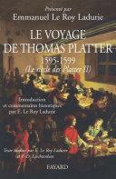 Pdf Le voyage de Thomas Platter 1595 - 1599 Telecharger