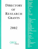 Directory of Research Grants 2002
