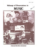 Melange of Dissertations in Music