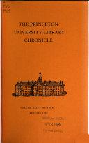 The Princeton University Library Chronicle