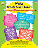 Write What You Think   Grades 3   8