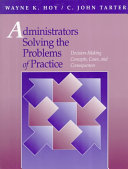 Administrators Solving the Problems of Practice Book