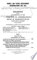 Energy and Water Development Appropriations for 1981