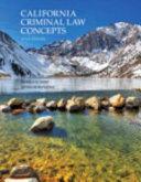 California Criminal Law Concepts