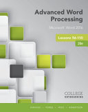 Advanced Word Processing Lessons 56 110 Microsoft Word 2016 Spiral Bound Version