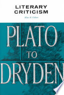 Literary Criticism: Plato to Dryden