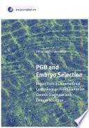 PGD and Embryo Selection