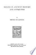 Essays In Ancient History And Antiquities Book PDF