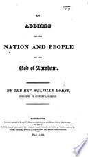 An Address to the Nation and People of the God of Abraham Book