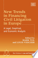 New Trends in Financing Civil Litigation in Europe