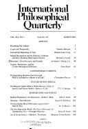 International Philosophical Quarterly Book
