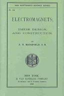 Electromagnets; Their Design and Construction