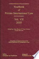 """""""Yearbook of Private International Law"""" by Petar Sarcevic, Andrea Bonomi, Paul Volken"""