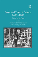 Pdf Book and Text in France, 1400–1600 Telecharger