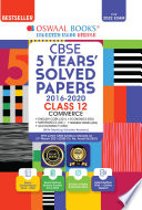 Oswaal CBSE 5 Years  Solved Papers Commerce  English Core  Mathematics  Accountancy  Economics  Business Studies  Class 12 Book  For 2022 Exam