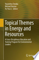Topical Themes In Energy And Resources Book PDF