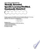 Index to Media and Materials for the Mentally Retarded, Specific Learning Disabled, Emotionally Disturbed  : Contains a Portion of the NIMIS I Data Base Developed at Ohio State University : Includes 15,000 Abstracts Describing in Detail Media and Materials Applicable to the Education of the Handicapped
