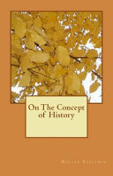 On the Concept of History